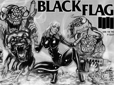 Black Flag concert poster , rare, mint condition,