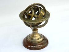 Antique Sphere Armillary Nautical World Globe Table Top Office Decor