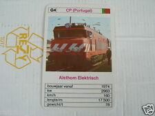 24 EK LOKS G4 CP PORTUGAL ALSTHOM ELECTRISCH TRAIN TREIN KWARTET KAART,
