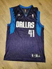 New listing Dirk Nowitzki Dallas Mavericks Basketball Jersey NBA Adidas Small Navy