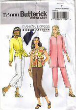 2 Hour Jacket Length Sleeve Variation Sash Cropped Pants Sewing Pattern XS S M