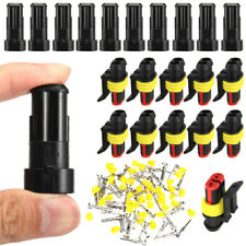 10Sets 2 Pin Way Waterproof Car ATV Electrical Wire Connector Plug Cable 12V