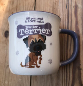 Wags & Whiskers Border Terrier mug cup gift