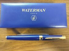 Waterman L'etalon Blue Lacquer with Gold Trim Fountain Pen 18K Oblique Nib