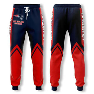 New England Patriots Team Joggers Pants Trousers Sports Track Sweatpants Baggy