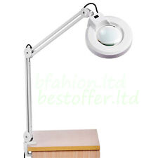 8 X Loupes Glass Lens Diopter Desk Table Lighting  Magnifier Lamp Light IN US