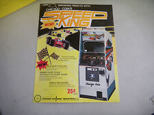 SPEED KING FOLDED    chicago DYNAMIC  coin    ARCADE GAME  FLYER
