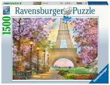 Paris France Jigsaw Puzzle 1500pc ravensburger Eiffel Tower Flowers Tree Bird Pi