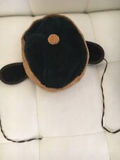 Children's Snow Hat Corduroy & Velvet like fabric -Ear Covers & Ties, button top