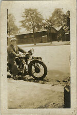 PHOTO ANCIENNE - VINTAGE SNAPSHOT - MOTO MOTOCYCLETTE - MOTORBIKE
