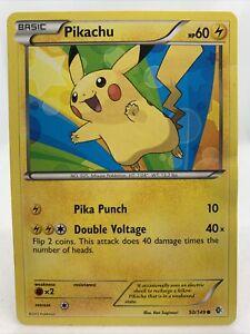 Pikachu Rare 2012 Boundaries Crossed Pokemon Card NM 50/149