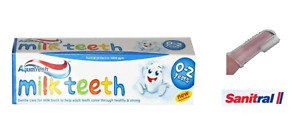 Aquafresh Milk Teeth Toothpaste 50ml 0-2 Years-Sanitral Baby Finger Toothbrush
