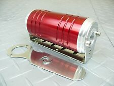 Red -8 AN/ORB 10 Micron Stainless Steel Element S-Max Aluminum Fuel Filter