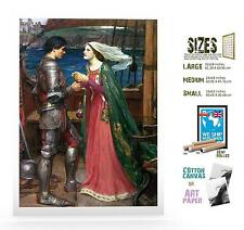 John Waterhouse English Pre-Raphalite Tristian And Isolde ART
