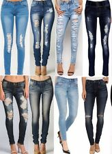 Lot Premium Stretch Skinny Leg Destroyed Distresses Jeans 0 1 3 5 7 9 11 13 15
