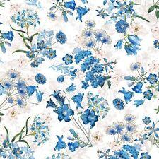 NY Botanical Gardens - Harper - White Wildflowers Cotton Fabric ByTheYd      H4
