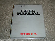 1996-1999 96 99 Motorcycle Atv Scooter Service Specifications Spec Book Manual