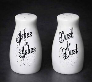 Alchemy England - Ashes to Dust Salt & Pepper Set, Death Pagan Spell Gothic Gift