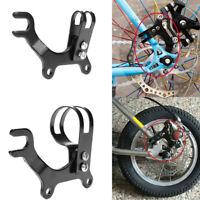 Black Bicycle Disc Brake Bracket Frame Portable Adaptor N! Mount Holder Kit B4K0