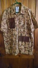 Camo 2XL Under Two Flags Short Sleeve Button Up Camouflage Shirt Excellent Cond