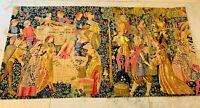 """TAPISSERIE MURALE du musée de Cluny """" LES VENDANGES """" Artis Flora, 194 x 98,5 cm"""