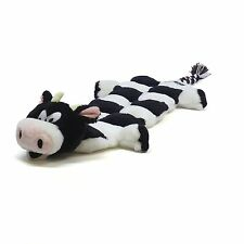 Outward Hound Plush Puppies LONG BODY SQUEAKER MAT Snuggle Dog Toy COW