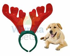 Festive Flashing Christmas Antlers for Your Dog