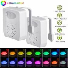 Lot de 216-color UV Sanitizer Toilette Gadget de lumière de nuit, détecteur de