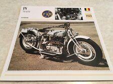 Carte moto FN 750 M50 1923 collection Atlas Motorcycle Belgique