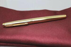 Near Mint. Parker 75 Imperial Gold Nib F 14K Fountain Pen vintage F/S