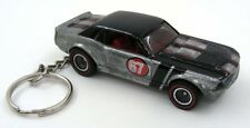 Custom Keychain 67 Ford Mustang GT Coupe Silver and Black Key Chain Ring Fob