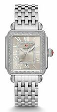 NEW MICHELE DECO MADISON DIAMOND STAINLESS STEEL CASHMERE WATCH MWW06T000165