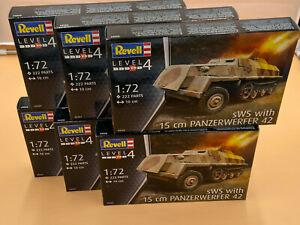 Konvolut 6 X 1/72 Plastikbausatz WWII sWS mit Panzerwerfer 42 REVELL 03264 OVP