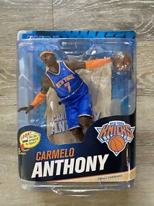NBA SERIES 23 CARMELO ANTHONY MCFARLANE BLUE JERSEY FIGURE KNICKS CASE FRESH