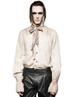 Punk Rave Mens Steampunk Poet Shirt Top White Gothic VTG Victorian + Scarf Tie
