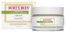 Burt's Bees Organic SENSITIVE Night Cream With Cotton Extract 50g Moisturiser Bu