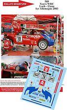 Decals 1/43 réf 589 Citroen Xsara WRC Loeb - Elena 1er Allemagne 2003