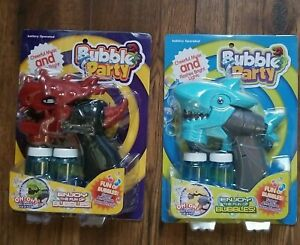 2Pack Kids Bubble Machine Toys Bubble Gun Rich Bubbles Fun W/  Music & Lights