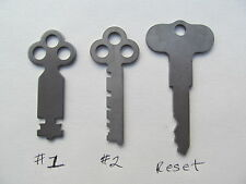 National Cash Register Keys  #1,#2,& Reset key. Fits 300 class & 700 class.