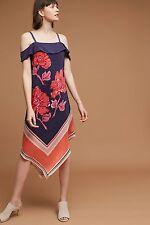 NWT Anthropologie Tilda Silk Navy Scarf Dress By Moulinette Soeurs Sz X-Large