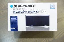 Blaupunkt BT20BK Bluetooth Lautsprecher mit FM Radio MP3 Player USB AUX Schwarz