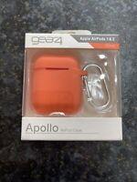 Gear4 Silicone Apollo Case For Apple AirPods 1st/2nd Gen - Orange/Coral - BNIB