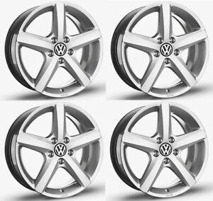 """SET OF FOUR NEW GENUINE VW TOUAREG 7P 18"""" ASPEN ALLOY WHEELS X4 ALLOYS 5X130"""