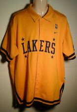 Nike LOS ANGELES LAKERS Embroidered Button-Down XLARGE 57 Warm-Up Jacket Jersey