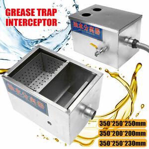 Commercial Grease Trap Waste Interceptor Stainless Steel Restaurant Takeaway UK!
