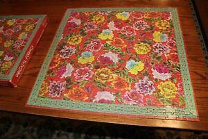 1977 Oriental Peonies Jigsaw Puzzle eaton 500 pieces