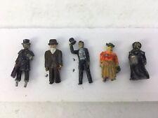 5 Metal Painted Vintage Figures Men And Women HO Scale