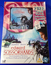 Edward Scissorhands (DVD, 2005) with playing cards & collectors tin New Sealed