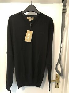 Burberry Black Jumper Black Small Size Brand New With Tag Uk