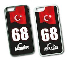 iPhone Aksaray 68 Türkiye Plaka Hard Tasche Flip Hülle Case Cover Schutz Handy